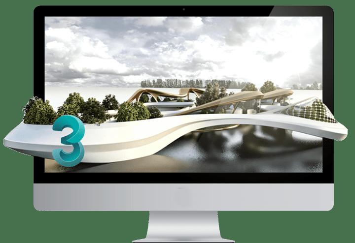 طرح های معماری ترسیمی در تری دی مکس