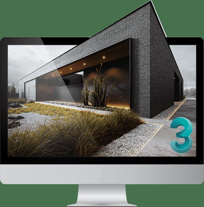 نرم افزار تری دی مکس در حوزه طراحی داخلی