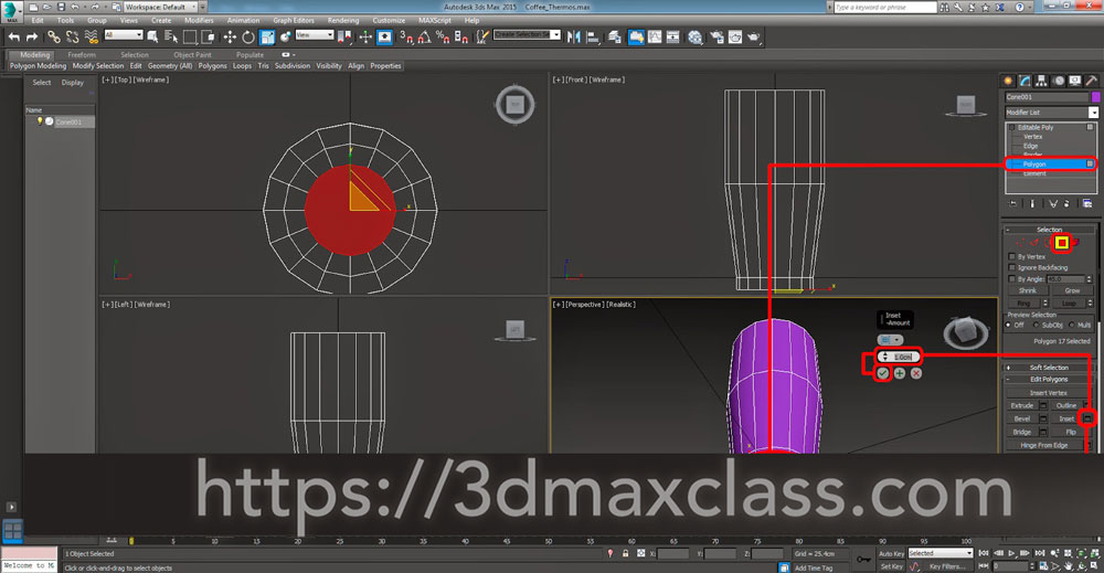 3dmax 1 1 10 - آموزش مدل سازی ماگ قهوه در تری دی مکس