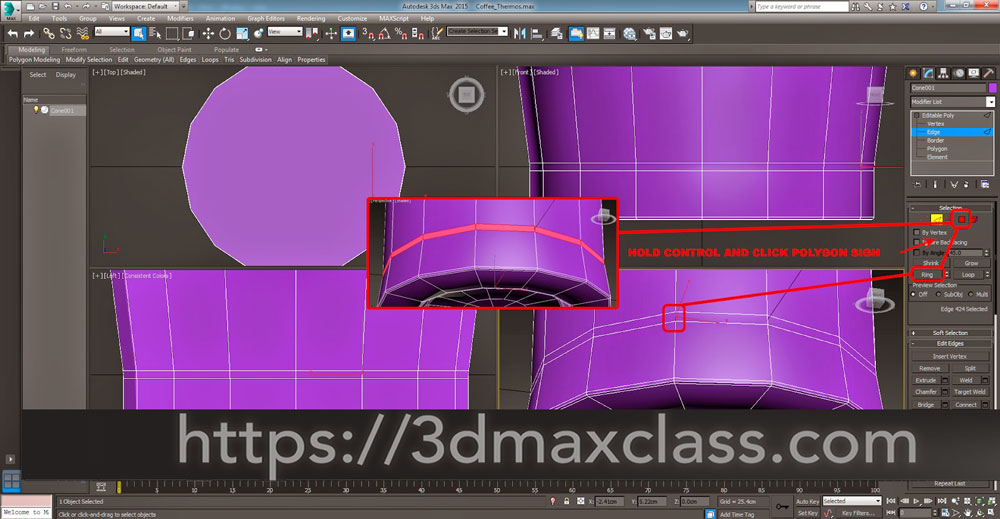 3dmax 1 1 17 1 - آموزش مدل سازی ماگ قهوه در تری دی مکس