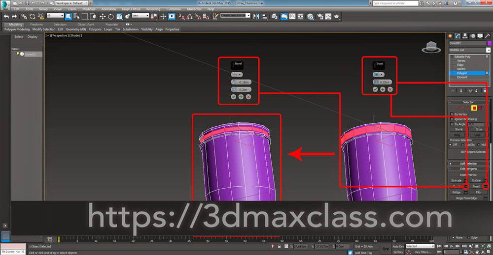 3dmax 1 1 22 1 - آموزش مدل سازی ماگ قهوه در تری دی مکس