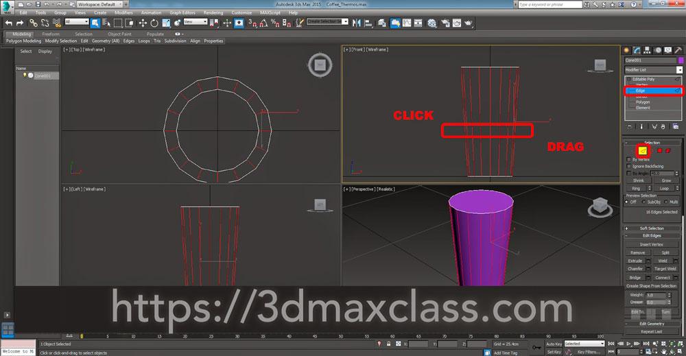 3dmax 1 1 5 - آموزش مدل سازی ماگ قهوه در تری دی مکس