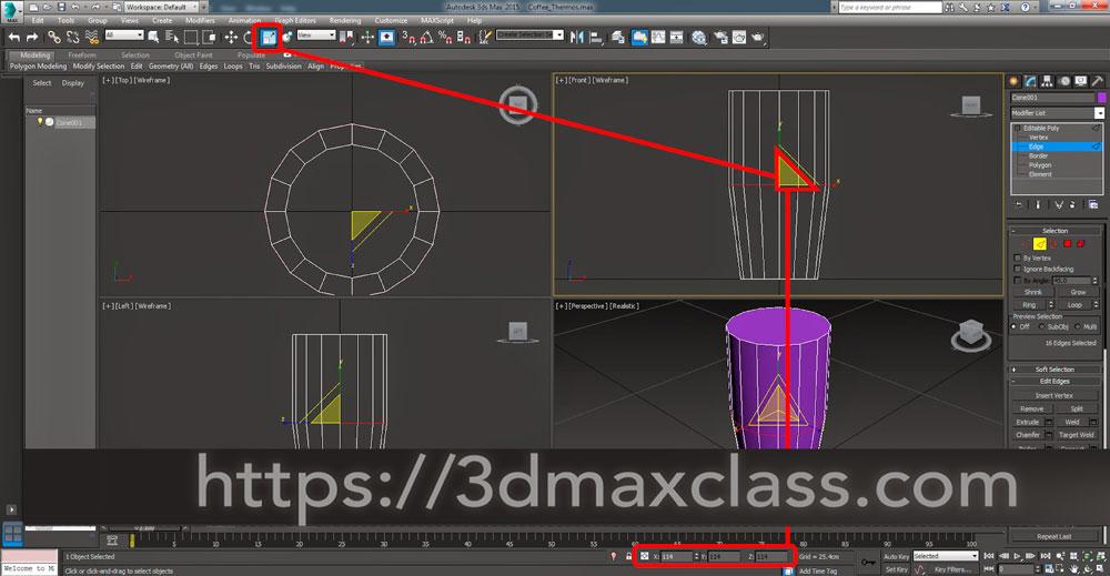 3dmax 1 1 7 - آموزش مدل سازی ماگ قهوه در تری دی مکس