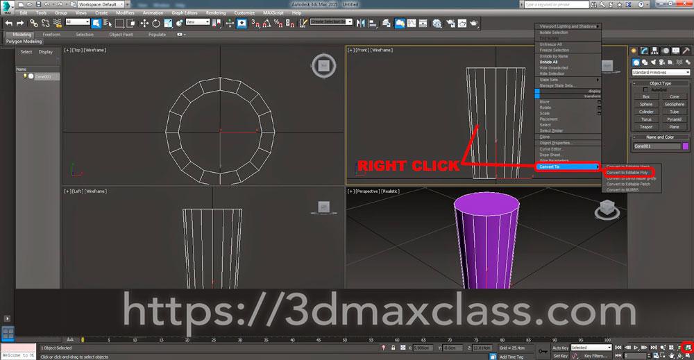 3dmax 1 4 4 - آموزش مدل سازی ماگ قهوه در تری دی مکس