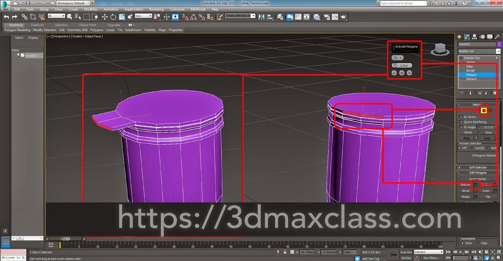 3dmax Step32 - آموزش مدل سازی ماگ قهوه در تری دی مکس