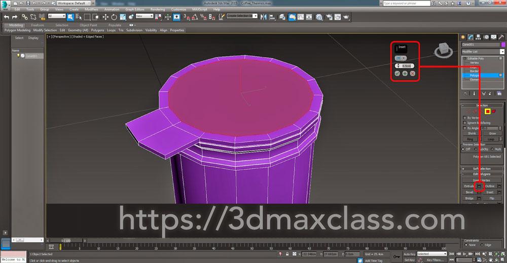 3dmax Step33 - آموزش مدل سازی ماگ قهوه در تری دی مکس