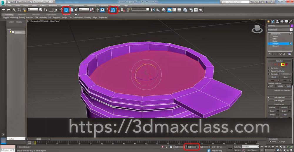 3dmax Step35 - آموزش مدل سازی ماگ قهوه در تری دی مکس