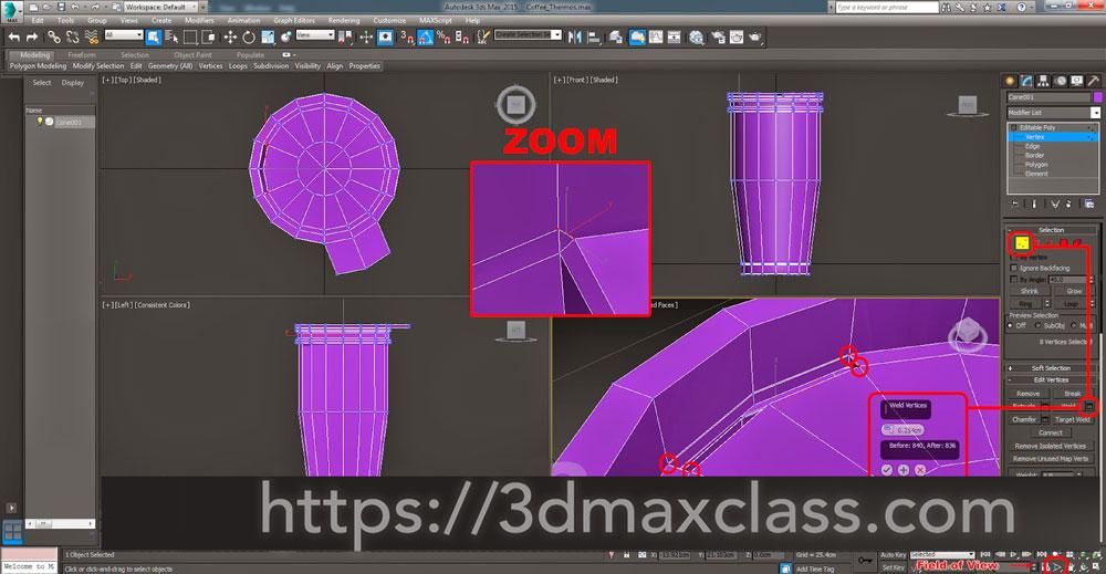 3dmax Step41 - آموزش مدل سازی ماگ قهوه در تری دی مکس