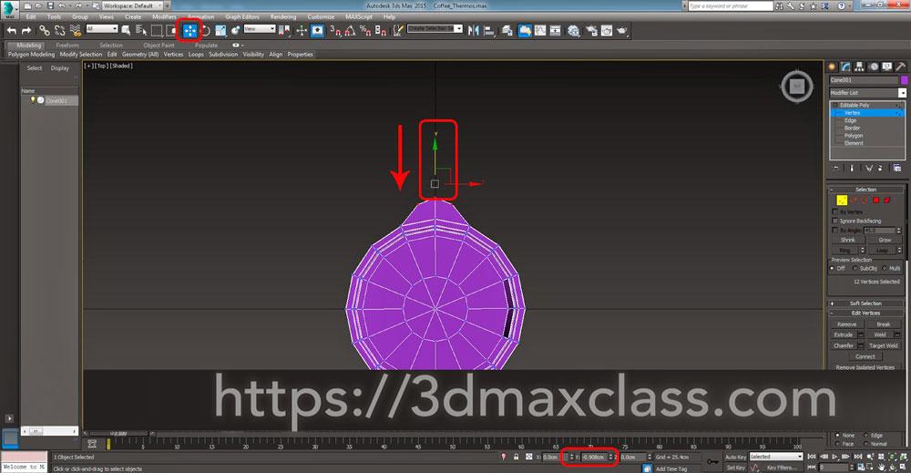 3dmax Step48 - آموزش مدل سازی ماگ قهوه در تری دی مکس