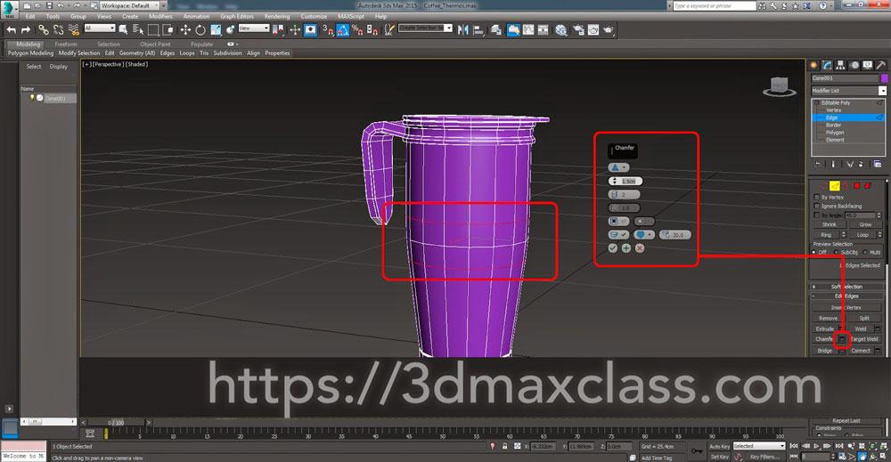 3dmax Step60 - آموزش مدل سازی ماگ قهوه در تری دی مکس