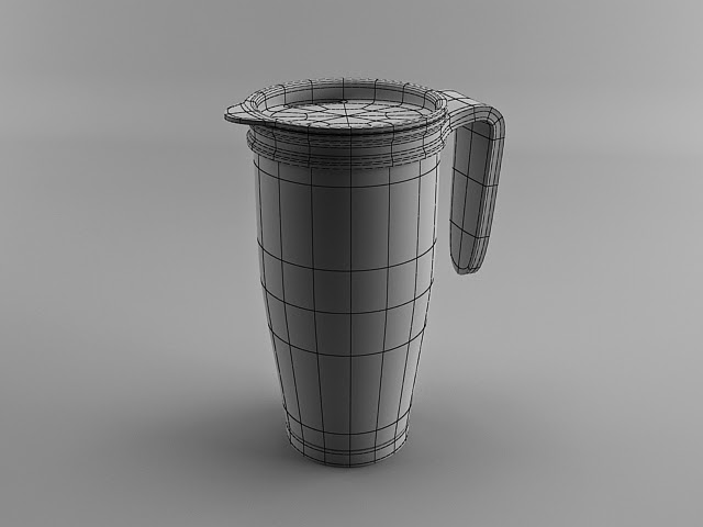 Coffee Thermos 3d Modeling Tutorial Wireframe - آموزش مدل سازی ماگ قهوه در تری دی مکس