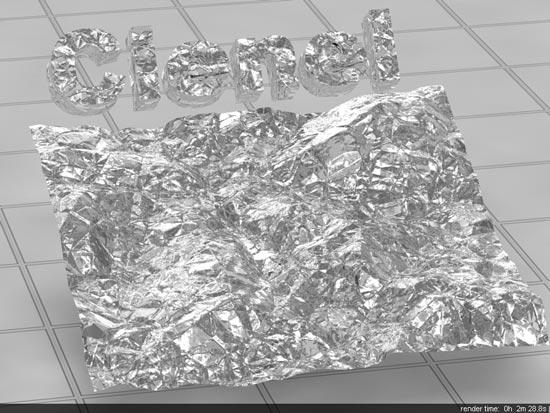 Crumpled Tin Foil In Vray - آموزش ساخت انواع متریال نقره ؛ برنز و فویل قلعی در vray