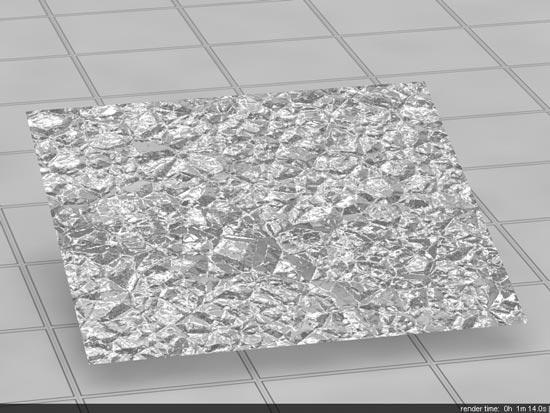 Crumpled Tin Foil In Vray step 5 - آموزش ساخت انواع متریال نقره ؛ برنز و فویل قلعی در vray