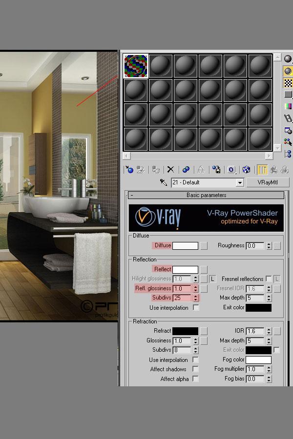 3dmax interior lighting rendering22 - دست یابی به نتایج واقع بینانه برای روشنایی داخلی و رندر کردن با استفاده از 3Ds Max و V-Ray