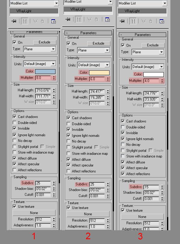 3dmax interior lighting rendering8 - دست یابی به نتایج واقع بینانه برای روشنایی داخلی و رندر کردن با استفاده از 3Ds Max و V-Ray