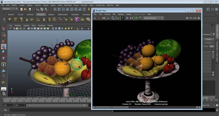 3d fruits  autodesk maya 3d  by choloalon daf8jml 1 - نرم افزار مایا