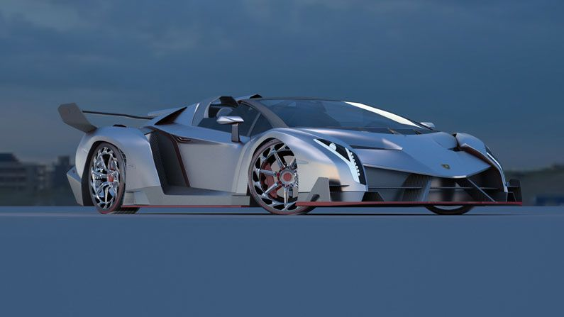 3d car - نحوه ی طراحی ماشین های مسابقه ای واقع گرایانه