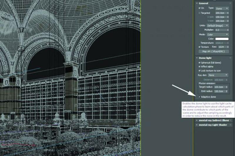 dome light - 6 مرحله ی آسان برای بهبود نورپردازی در v-ray
