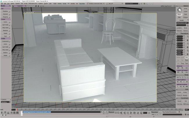 step 6 create room - نحوه ی ساخت صحنه ی واقع گرایانه از اتاق خواب