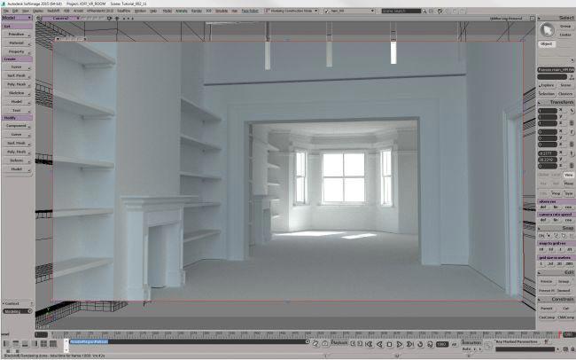 step 8 create room - نحوه ی ساخت صحنه ی واقع گرایانه از اتاق خواب