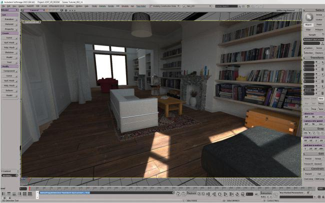 step 9 create room - نحوه ی ساخت صحنه ی واقع گرایانه از اتاق خواب