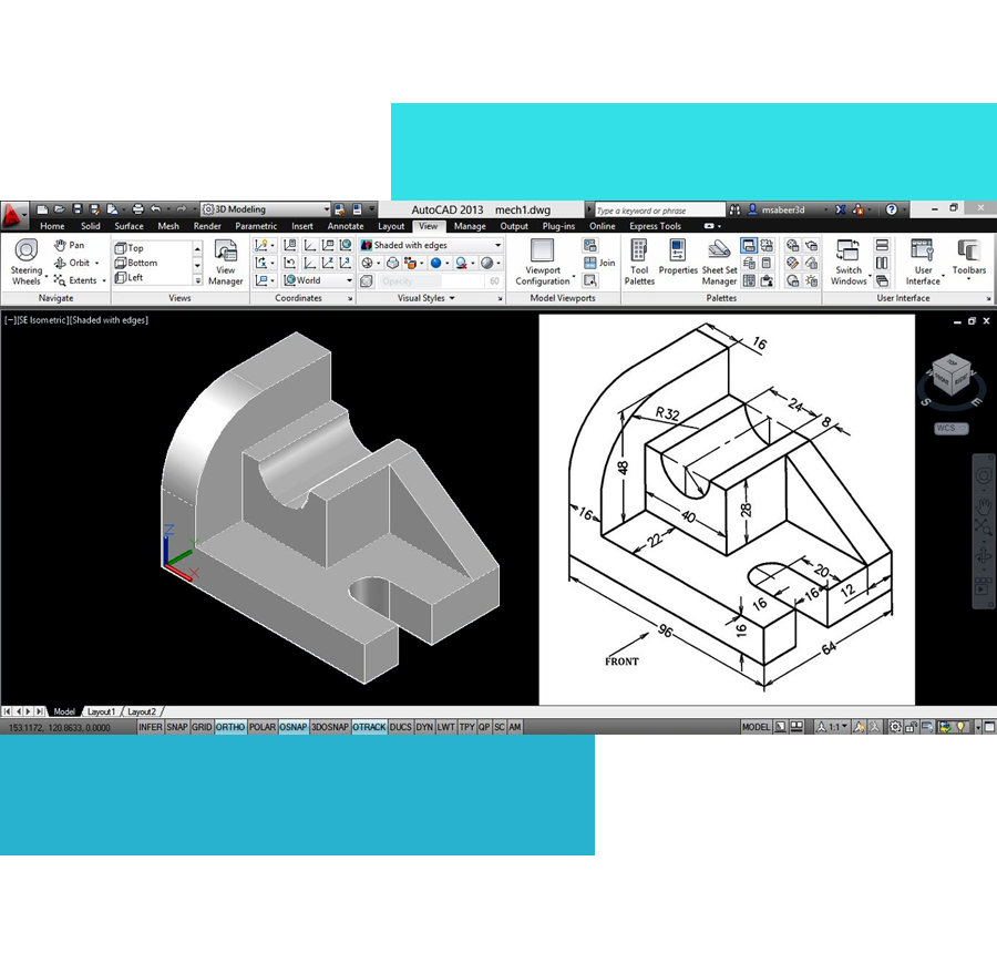 Autocad m1 - طراحی تأسیسات مکانیکی در اتوکد
