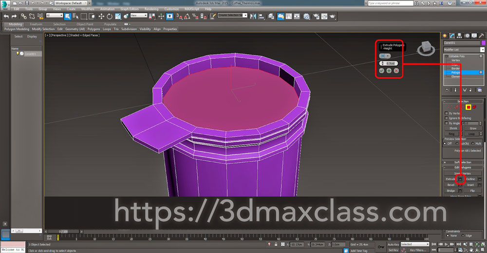 3dmax Step34 - آموزش مدل سازی ماگ قهوه در تری دی مکس