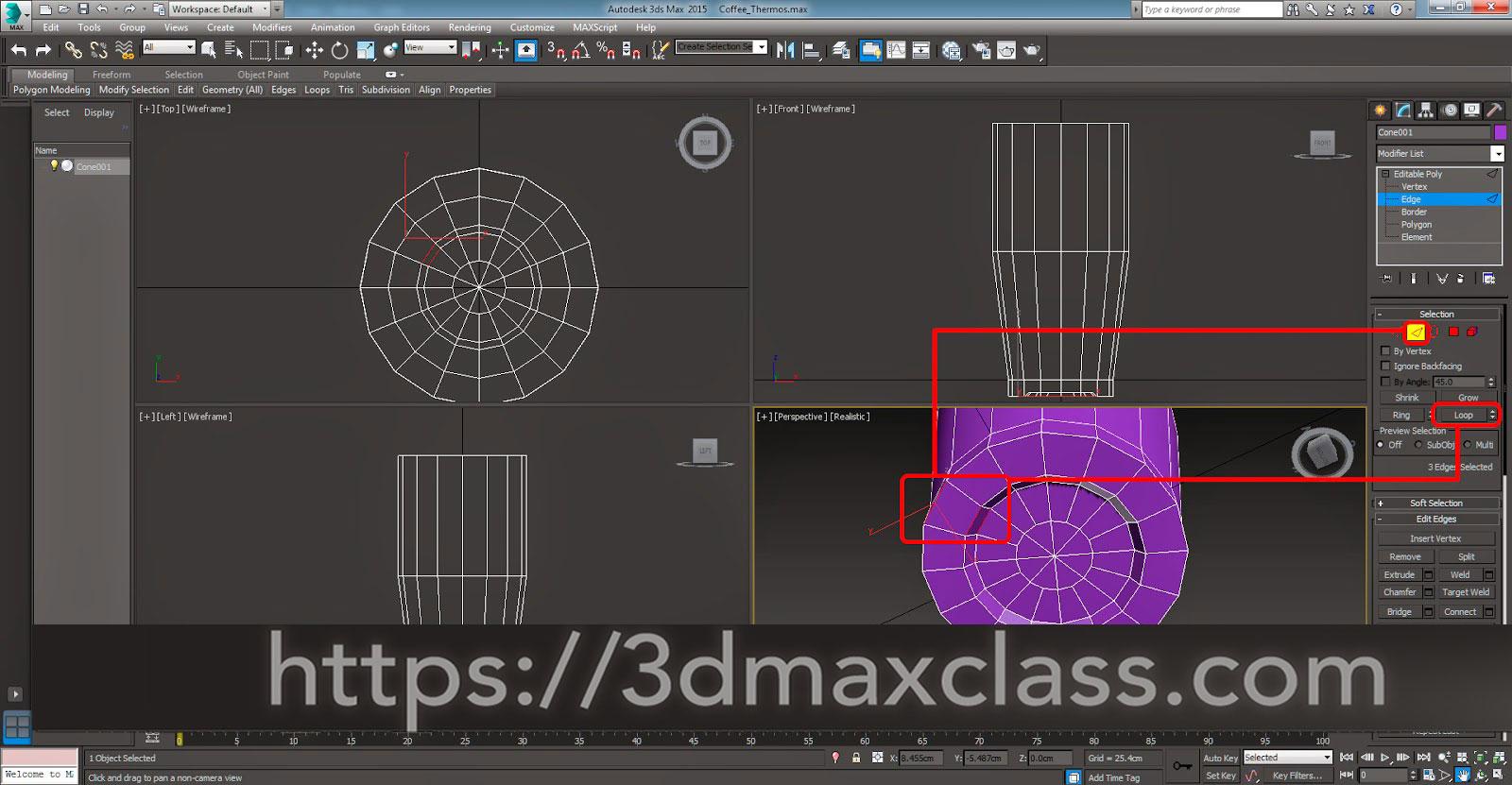 3dmax 1 1 15 1 - آموزش مدل سازی ماگ قهوه در تری دی مکس