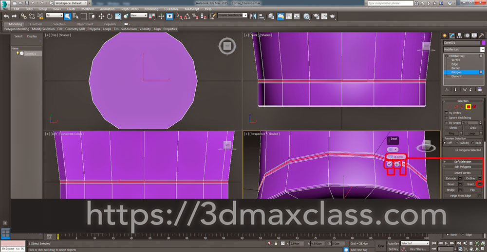 3dmax 1 1 18 1 - آموزش مدل سازی ماگ قهوه در تری دی مکس