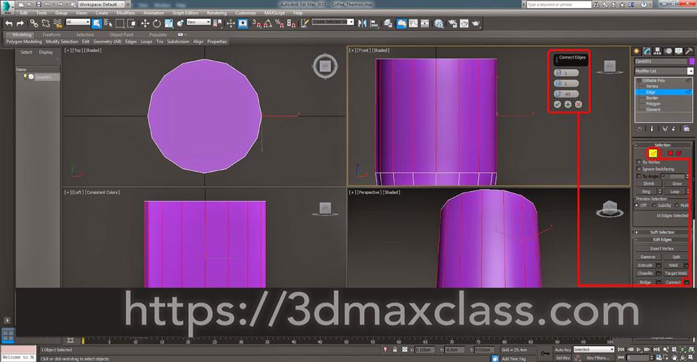3dmax 1 1 20 1 - آموزش مدل سازی ماگ قهوه در تری دی مکس