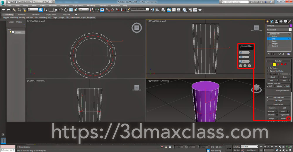 3dmax 1 1 6 - آموزش مدل سازی ماگ قهوه در تری دی مکس