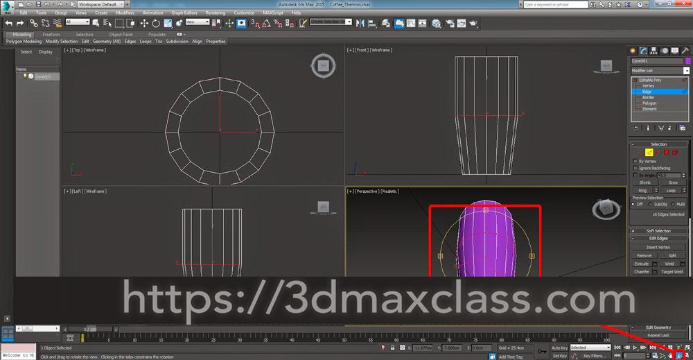 3dmax 1 1 8 - آموزش مدل سازی ماگ قهوه در تری دی مکس