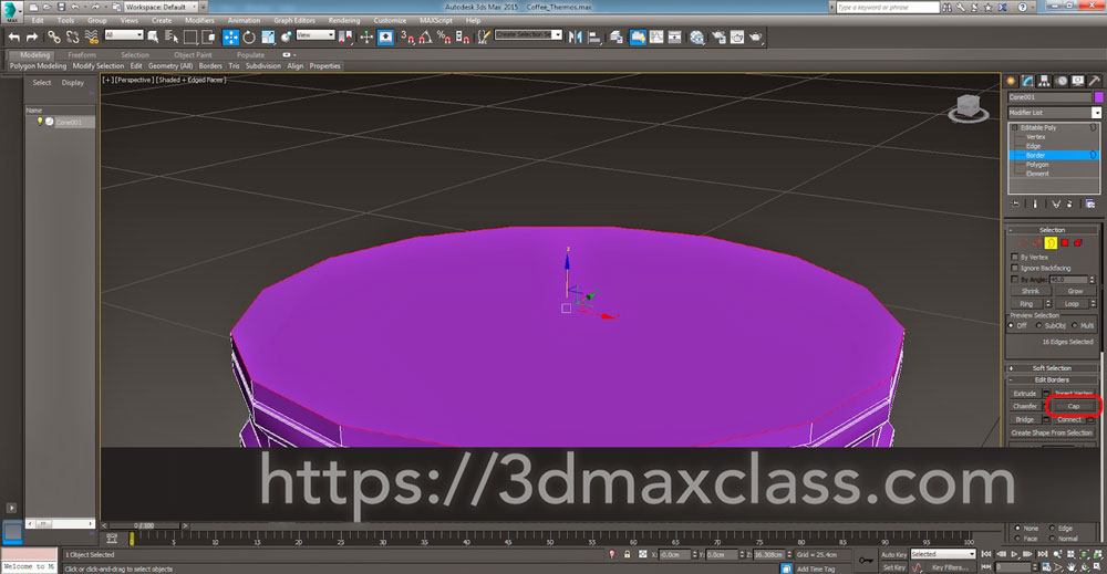 3dmax Step31 - آموزش مدل سازی ماگ قهوه در تری دی مکس