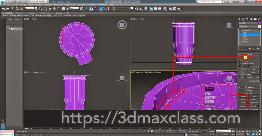 3dmax Step40 - آموزش مدل سازی ماگ قهوه در تری دی مکس