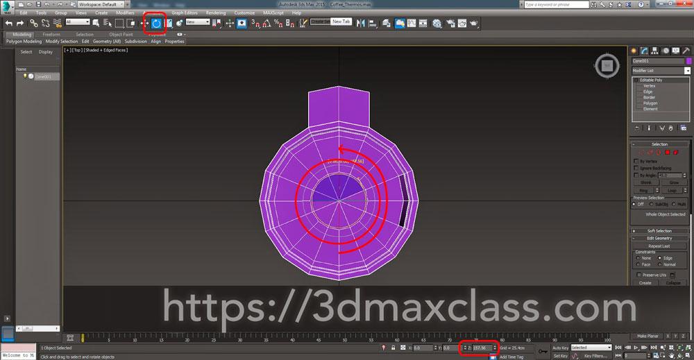 3dmax Step46 - آموزش مدل سازی ماگ قهوه در تری دی مکس