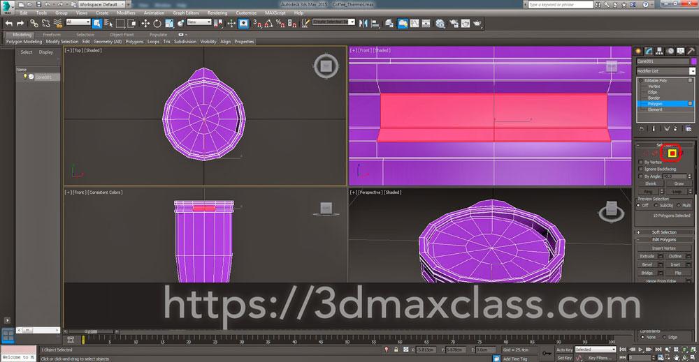 3dmax Step49 1 - آموزش مدل سازی ماگ قهوه در تری دی مکس