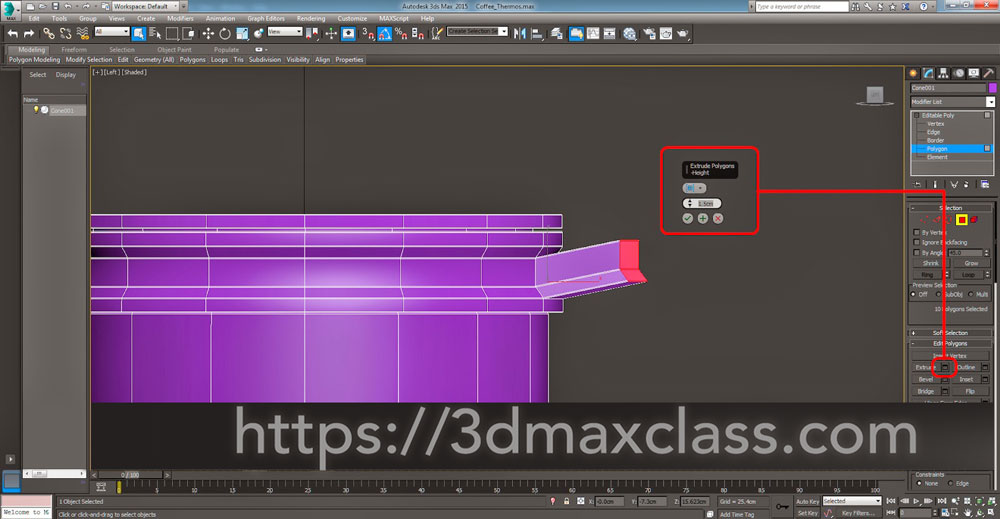 3dmax Step50 1 - آموزش مدل سازی ماگ قهوه در تری دی مکس