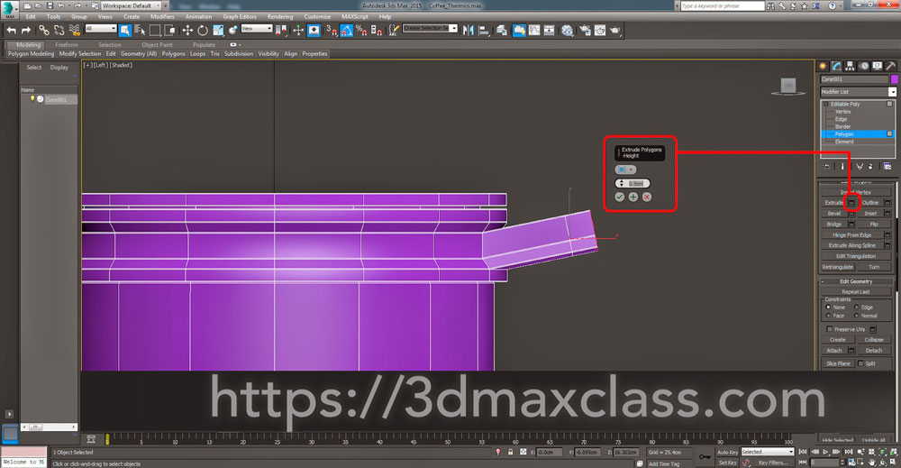 3dmax Step52 1 - آموزش مدل سازی ماگ قهوه در تری دی مکس