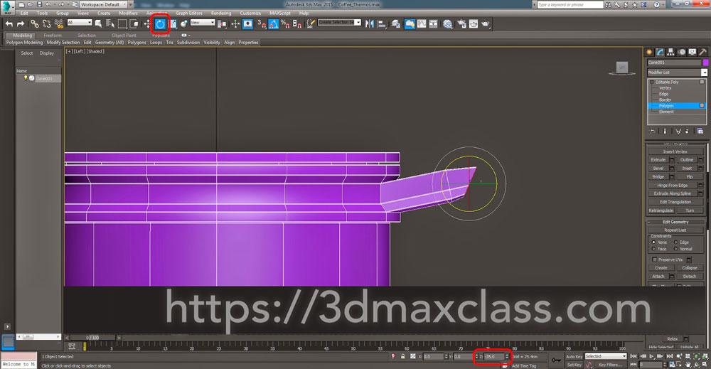 3dmax Step53 - آموزش مدل سازی ماگ قهوه در تری دی مکس