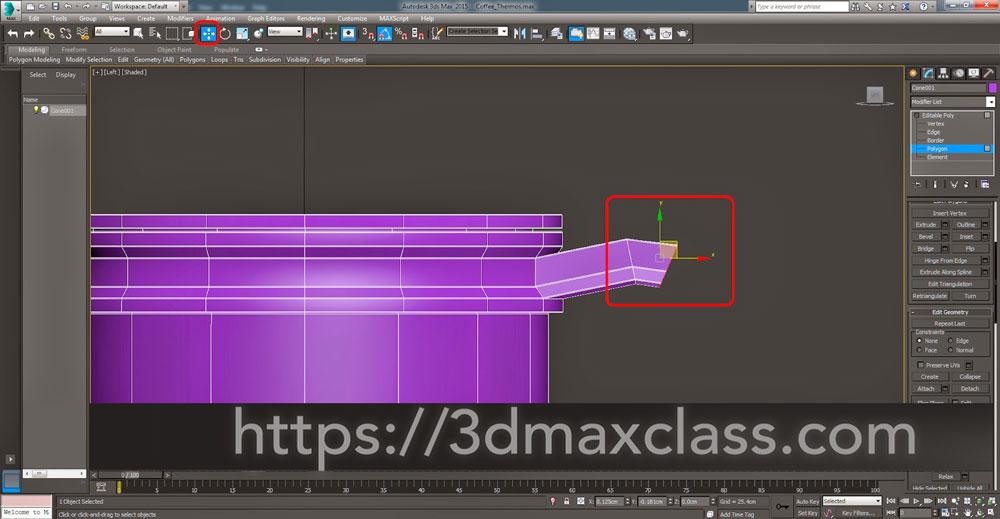 3dmax Step54 - آموزش مدل سازی ماگ قهوه در تری دی مکس