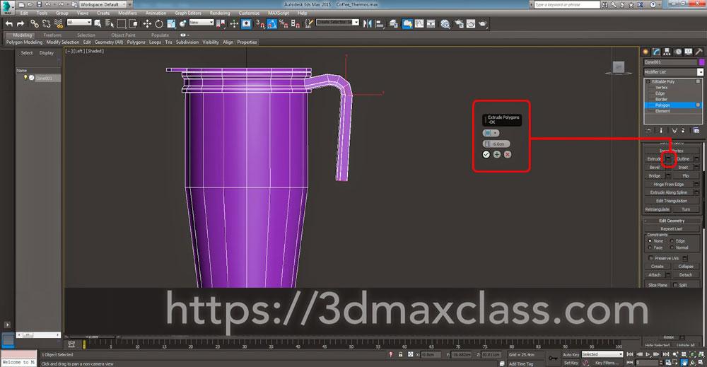 3dmax Step56 - آموزش مدل سازی ماگ قهوه در تری دی مکس