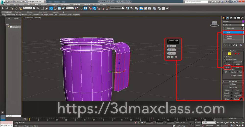 3dmax Step57 - آموزش مدل سازی ماگ قهوه در تری دی مکس