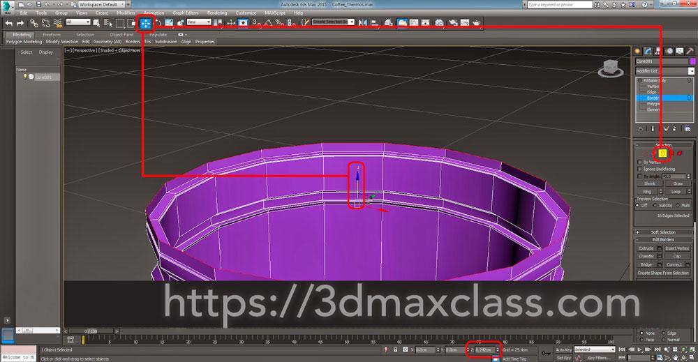 3dmax  Step30 - آموزش مدل سازی ماگ قهوه در تری دی مکس