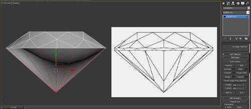 3dmax render diamonds step 11 - آموزش مدل سازی و رندر الماس
