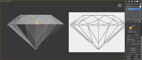 3dmax render diamonds step 18 - آموزش مدل سازی و رندر الماس