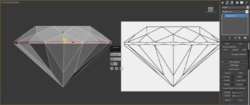 3dmax render diamonds step 19 - آموزش مدل سازی و رندر الماس