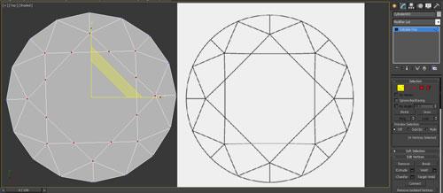 3dmax render diamonds step 7 - آموزش مدل سازی و رندر الماس
