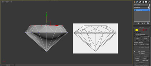 3dmax render diamonds step 8 - آموزش مدل سازی و رندر الماس