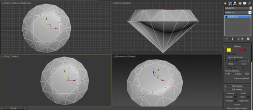 3dmax render diamonds step 9 - آموزش مدل سازی و رندر الماس