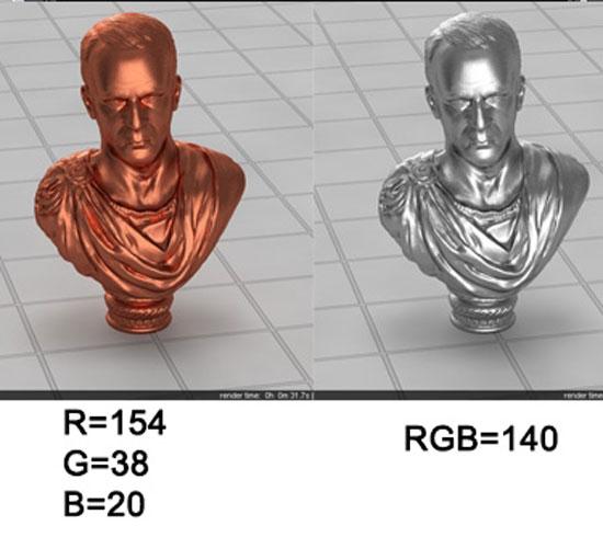 Bronze Silver Material Vray step2 2 - آموزش ساخت انواع متریال نقره ؛ برنز و فویل قلعی در vray